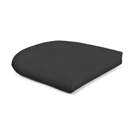 Sunbrella Brick - Sunbrella Wicker Seat Pad - Canvas Black