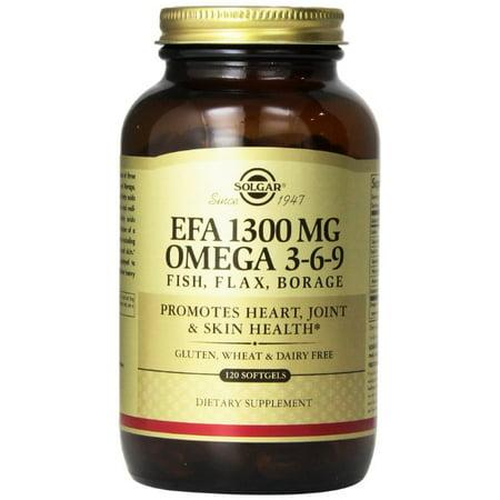 Solgar EFA 1300 mg Omega 3-6-9 Softgels 120 ct - image 2 de 2