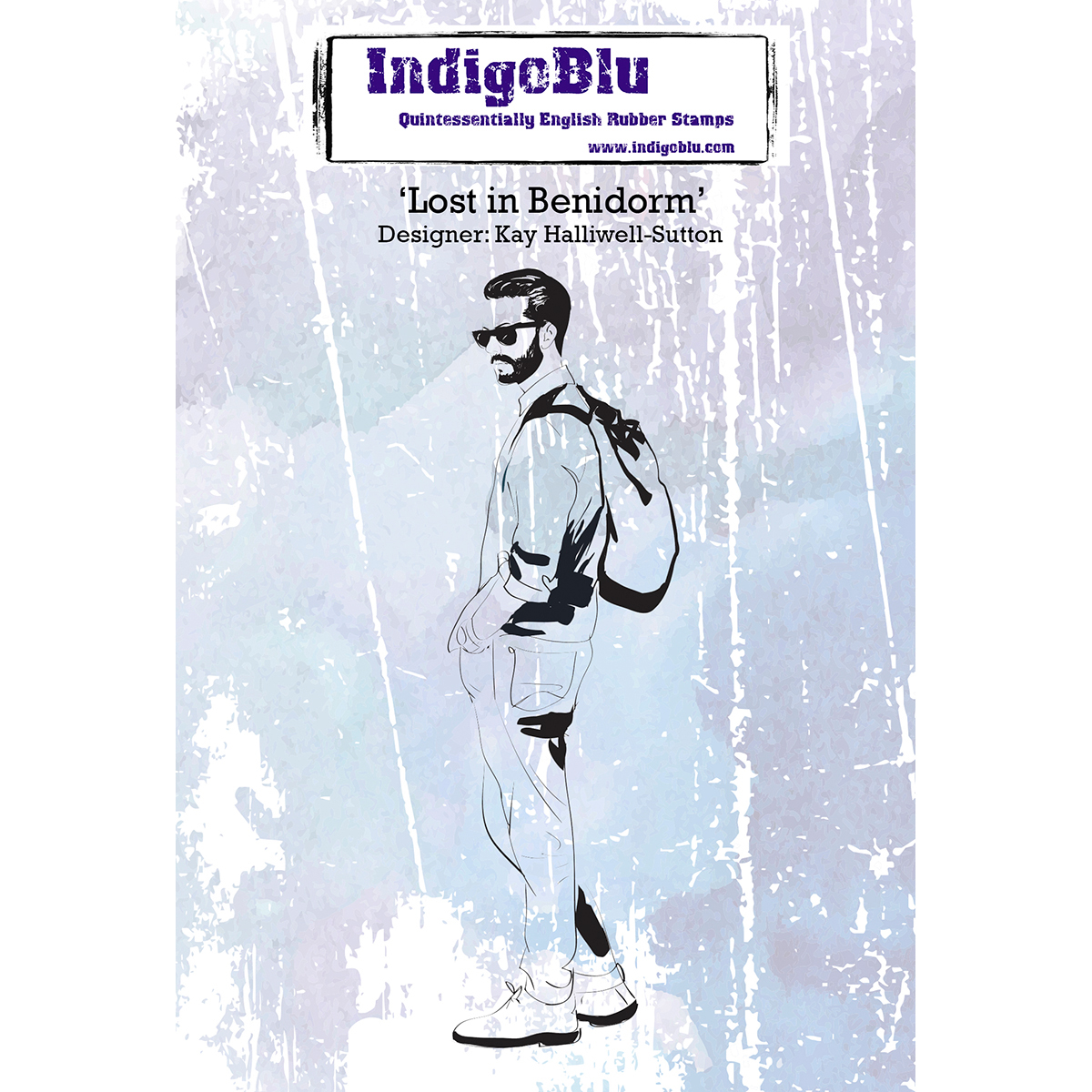 "IndigoBlu Cling Mounted Stamp 5""X4""-Lost In Benidom"