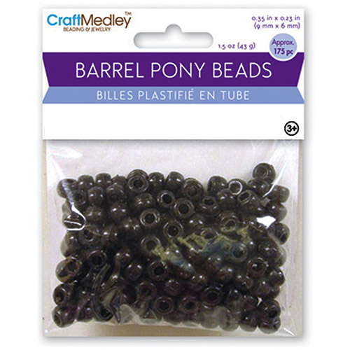 Multicraft Barrel Pony Beads, 9mm x 6mm, 175pk