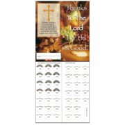 Thanksgiving  to the Lord $10.00 Quarter Coin Folders -  Pack of 50