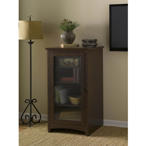 Bush Furniture Buena Vista Audio Cabinet Bookcase