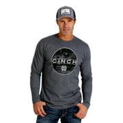 Cinch Western Shirt Mens L/S Tee Jersey Crew Charcoal MTT1660007