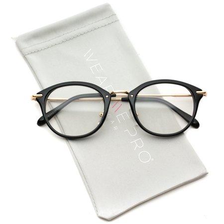 Small Round Stud Matte Glossy Clear Glasses - Walmart.com 2aff5168fd85