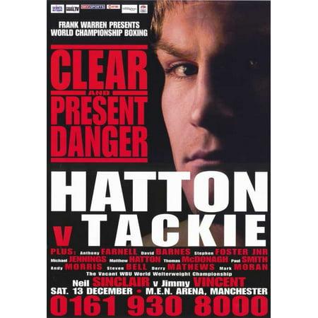 Ricky Hatton vs Ben Tackie POSTER Movie Mini Promo (Rickys Halloween)