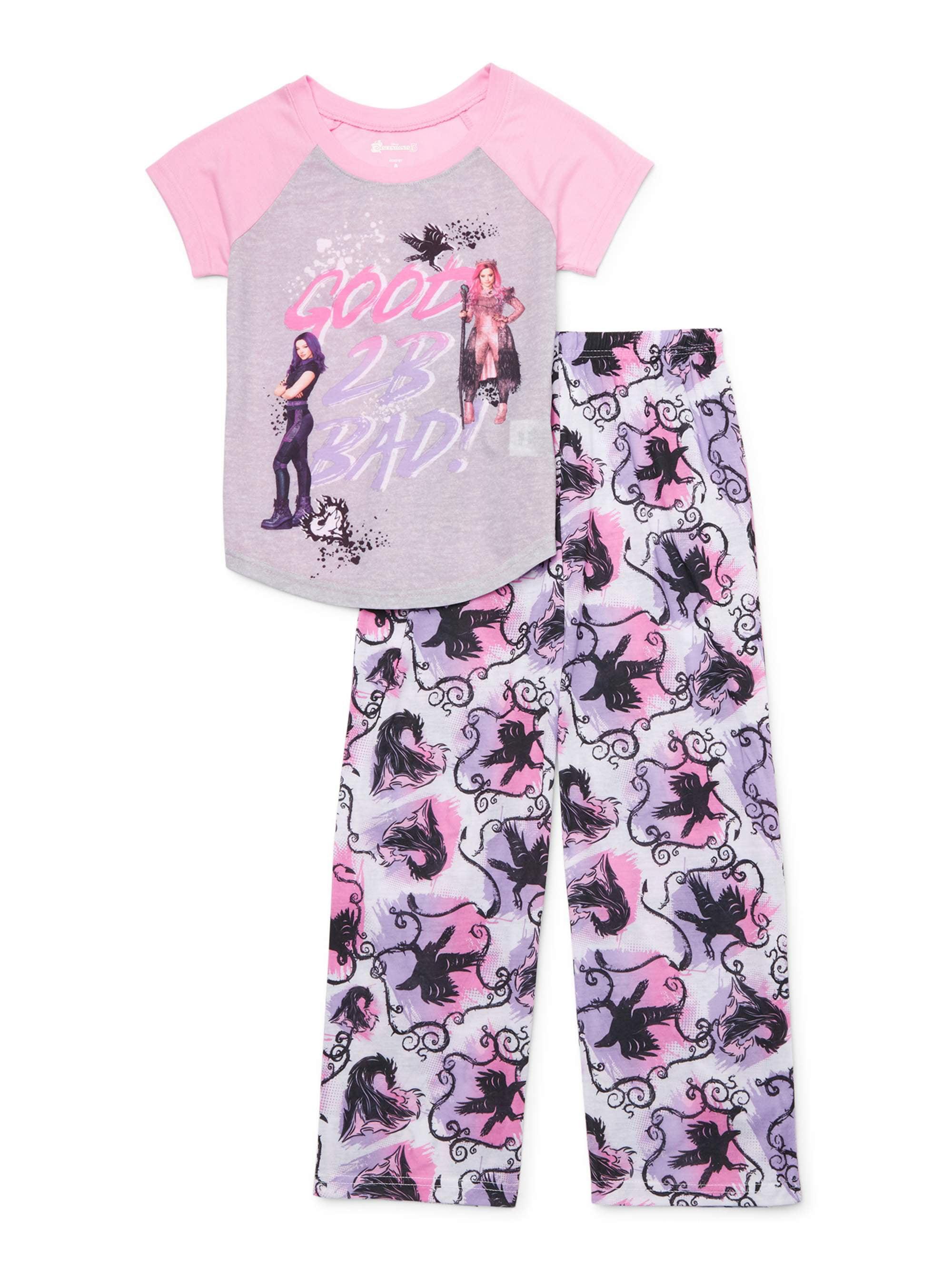 Descendants Girls 2-Piece Button Front Pajama Set Pajama Set