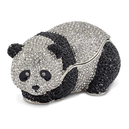 - Bejeweled Full Crystal Panda Bear Trinket Box