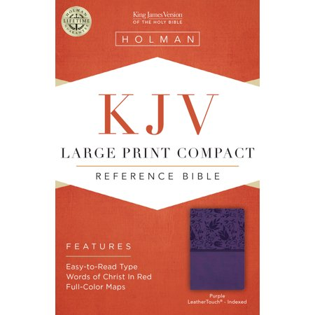 KJV Large Print Compact Reference Bible, Purple LeatherTouch, Indexed