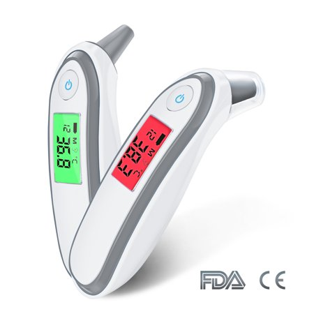 Ear Thermometer Digital Medical Infrared Thermometer for Baby Children Adults Fahrenheit and Celsius Convertible ()