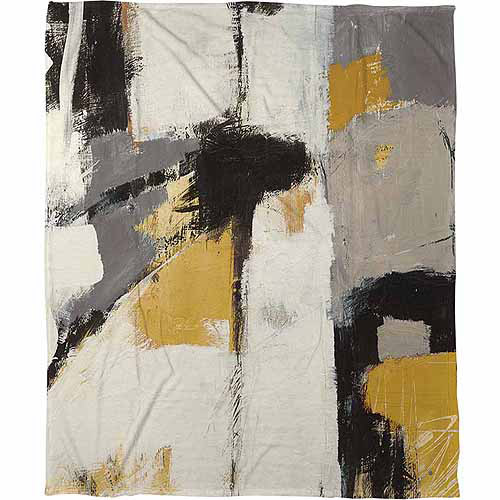 IDG Yellow Catalina 1 Coral Fleece Throw