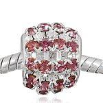 Buckets of Beads Rhinestone Charm Bead, Orchid Sprinkles ()