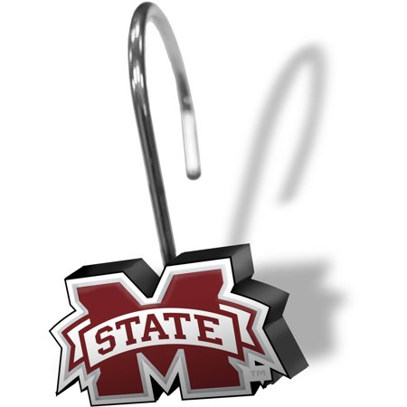 NCAA Mississippi State Bulldogs Shower Curtain Ring Set, 12 Piece