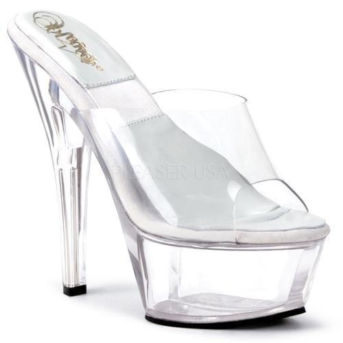 SOL601-D/C/M Shoes Pleaser Platforms Exotic Dancing Specialty Shoes SOL601-D/C/M CLEAR Size:5 907679