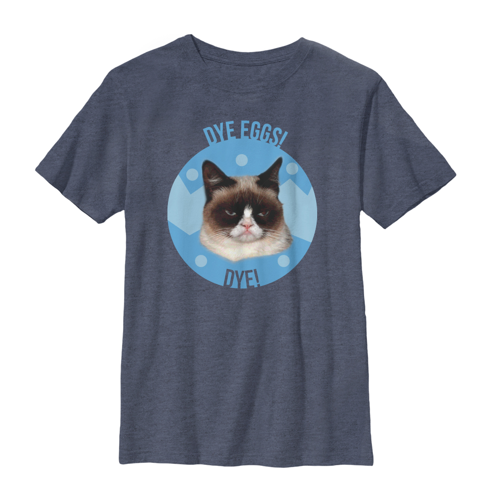 Grumpy Cat Boys' Dye Eggs T-Shirt