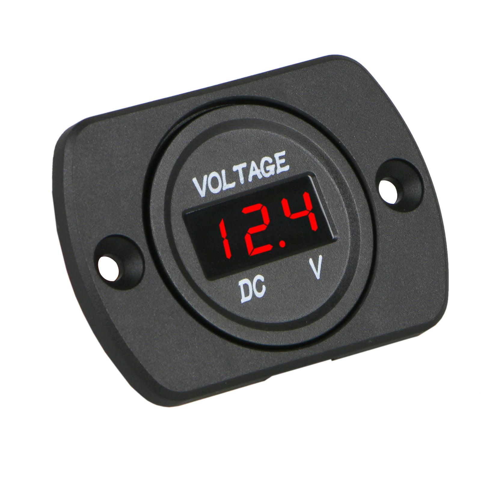 TSV 12V-24V Car Marine Motorcycle LED Digital Voltmeter Voltage Meter Battery Gauge