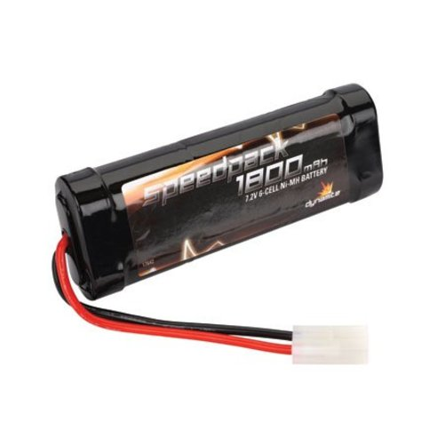 SpeedPk 1800mAh Ni-MH 6 Cell Flat Multi-Colored