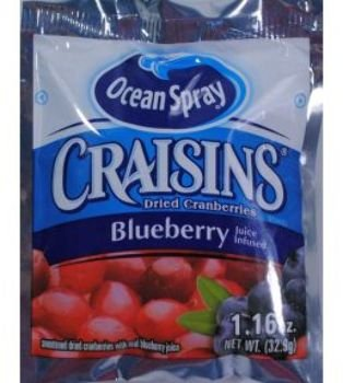 200 PACKS : Ocean Spray Blueberry Craisins