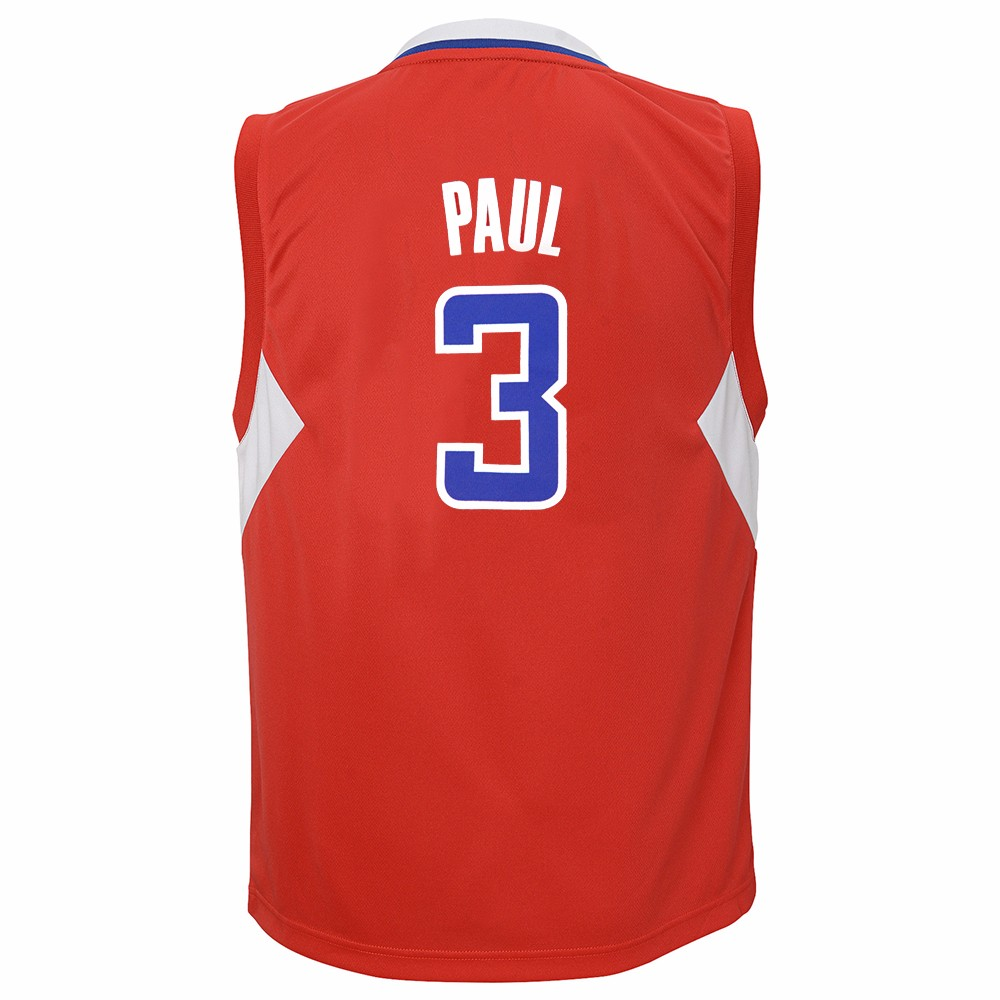 Chris Paul Los Angeles Clippers NBA Adidas Boys Red Official Road Replica Basketball Jersey