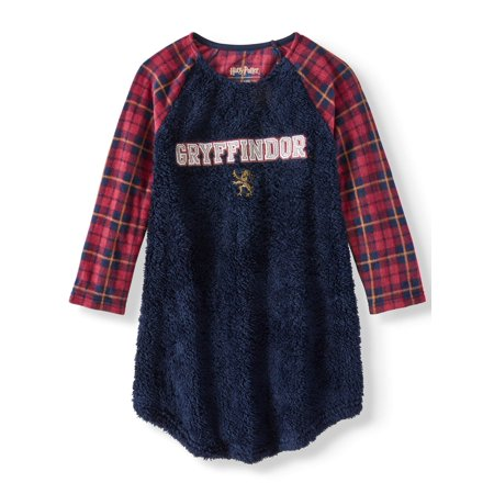 Harry Potter Gryffindor Plush Raglan Nightgown (Little Girls & Big Girls)](Harry Potter Clearance)