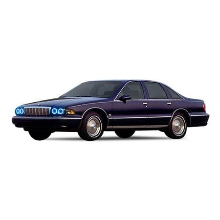 Flashtech Blue LED Halo Ring Headlight Kit For Chevrolet Caprice 91-96 1990 Chevrolet Caprice Headlight