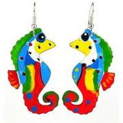 Creative Alternatives Painted Seahorse Earrings