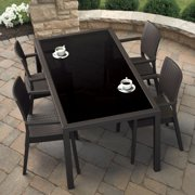 Compamia Miami Resin Wicker Rectangle Patio Dining Set with Optional Cushions
