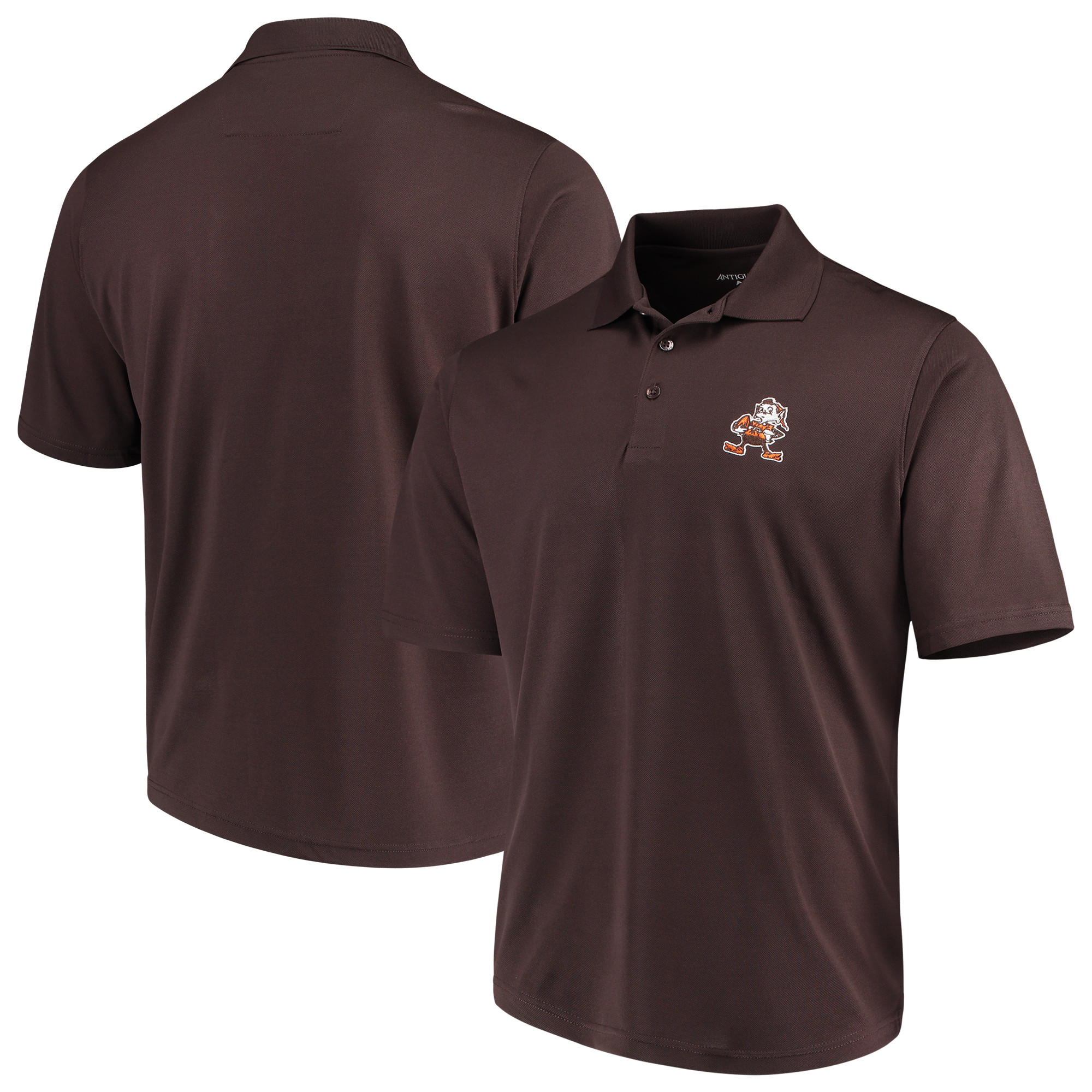 Cleveland Browns Antigua Throwback Pique Polo - Brown