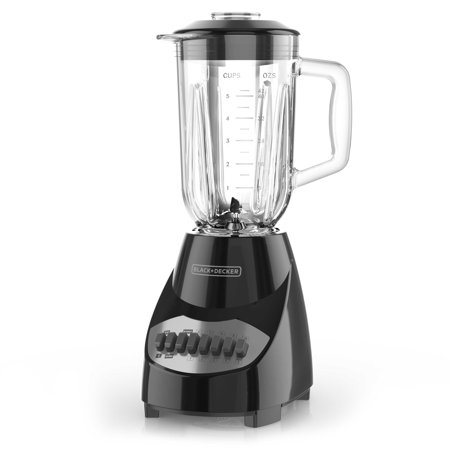 BLACK+DECKER Countertop Blender with 5-Cup Glass Jar, Black, BL2010BG
