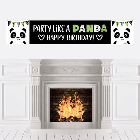 Party Like a Panda Bear - Birthday Party Decorations Party Banner for $<!---->