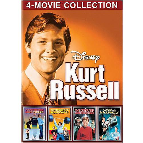 Disney: Kurt Russell 4-Movie Collection - The Computer Wore Tennis Shoes / The Strongest Man In The World / Now You See Him Now You Don't / The Horse In The Gray Flannel Suit