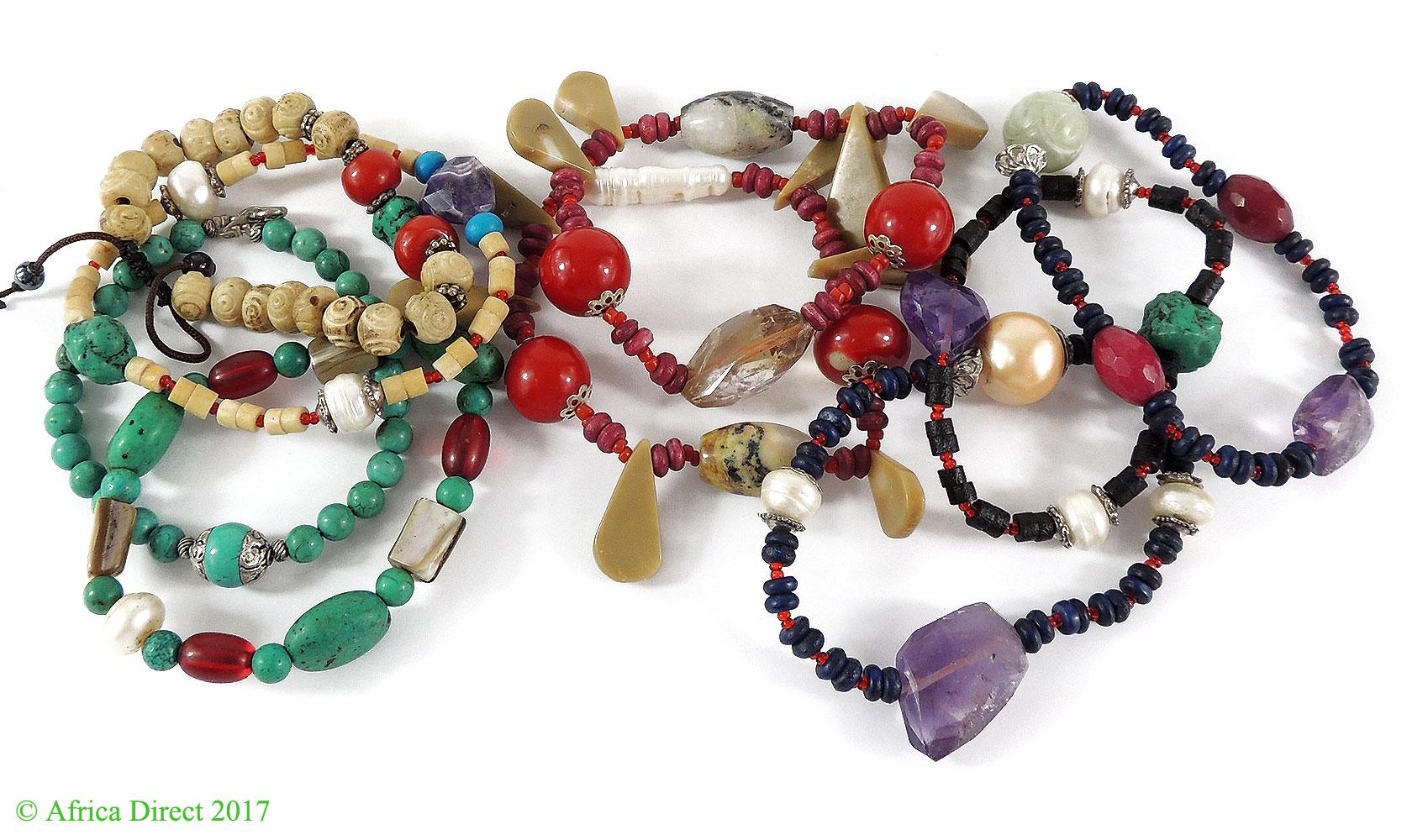 9 Tibetan Bracelets Pearl Bone Glass Turquoise Wholesale by
