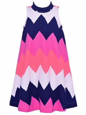 47e2e1e00c Product Image Bonnie Jean Little Girls Purple White Wide Chevron Stripe  Pattern Dress