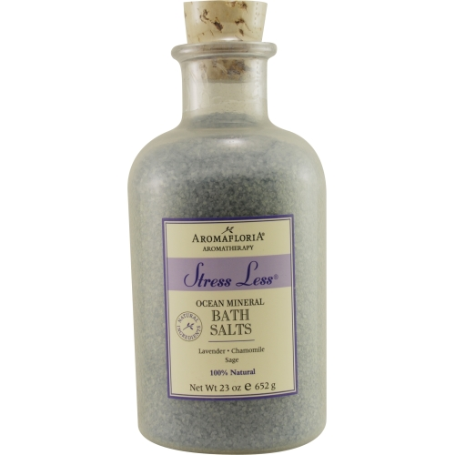 Aromafloria 3947311 Stress Less By Aromafloria Ocean Mineral Bath Salts 23 Oz Blend Of Lavender, Chamomile, And Sage