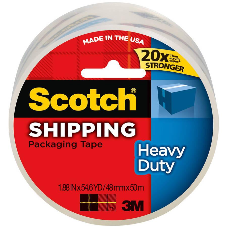 "Scotch 3850 Heavy Duty Packaging Tape, 2"" x 55 yards, Clear"