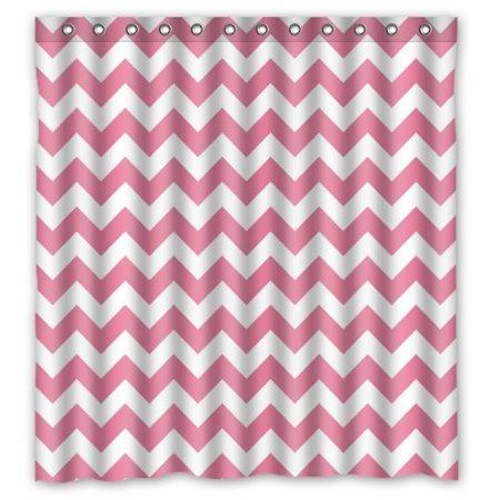 XDDJA Zig Zag Chevron Shower Curtain Waterproof Polyester Fabric Shower Curtain Size 66x72 inches - image 1 of 1