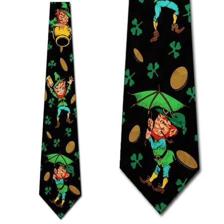 Leprechaun, Coins, and Clovers Necktie Mens Tie by - Leprechaun Suit