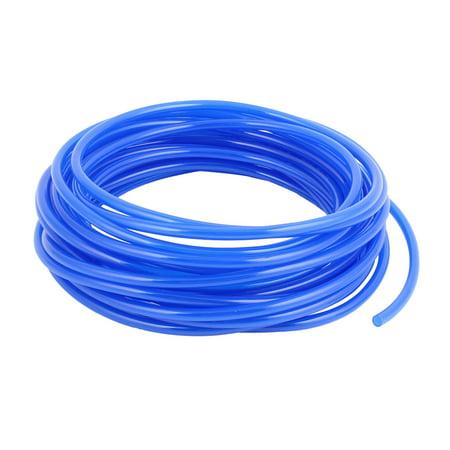 6mmx4mm Dia 10M Length Fuel Gas Air Polyurethane PU Tubing Hose Pipe Blue