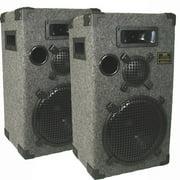 "New Gray Studio Speakers 12"" Three Way Pro Audio Monitor Pair for PA DJ Home or Karaoke D1200C"