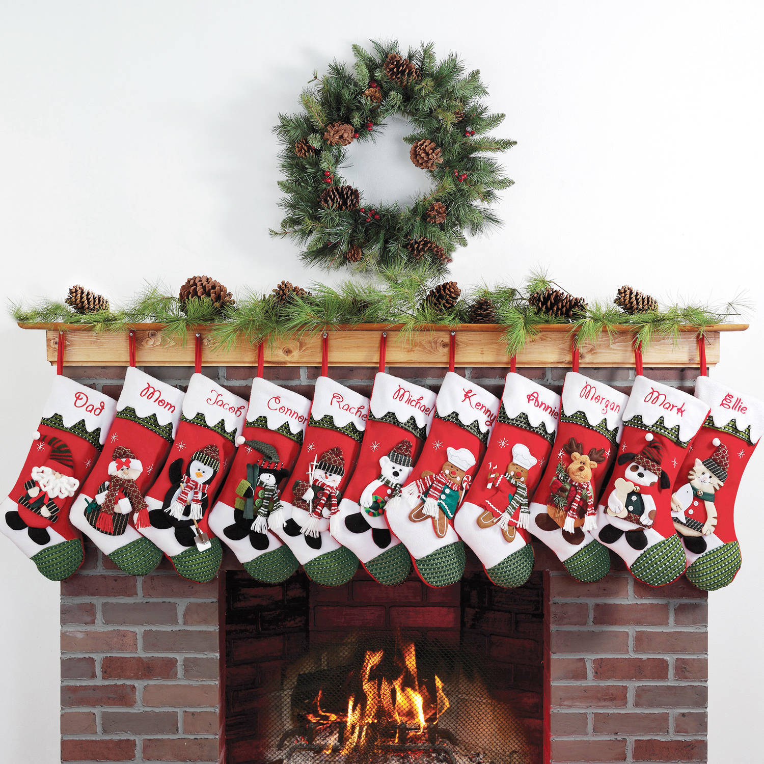 personalized snow cap christmas stocking available in 11 designs