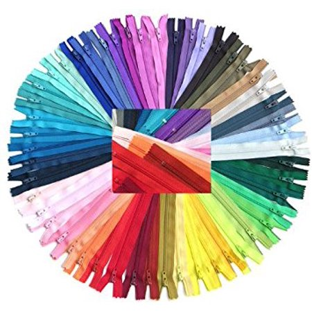 Zipperstop Wholesale YKK® 54pcmix Nylon Coil Zippers Tailor Sewer Craft 14 Inch Crafter's Special - Made in - Circular Side Zipper