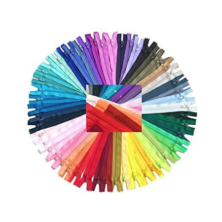 Zipperstop Wholesale YKK® 54pcmix Nylon Coil Zippers Tailor Sewer Craft 14 Inch Crafter