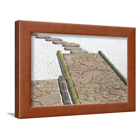 Zen Stone Path In A Japanese Garden Framed Print Wall Art By