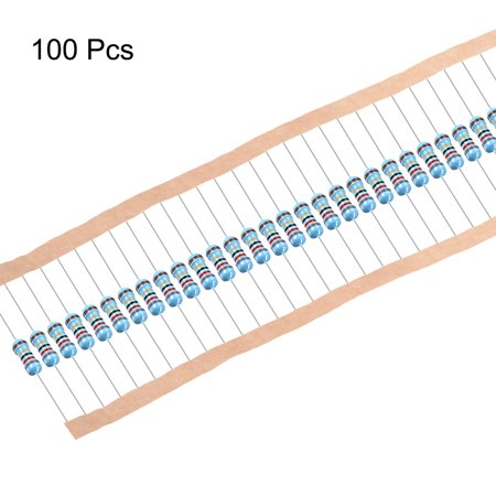 1/2 Watt 82 Ohm Metal Film Resistors 0.5W 1% Tolerances 5 Color Bands 100 Pcs - image 1 of 4