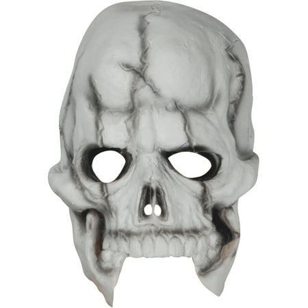 Loftus Halloween Skeleton Costume Face Mask, White Black, One Size - Black Face Halloween Mask