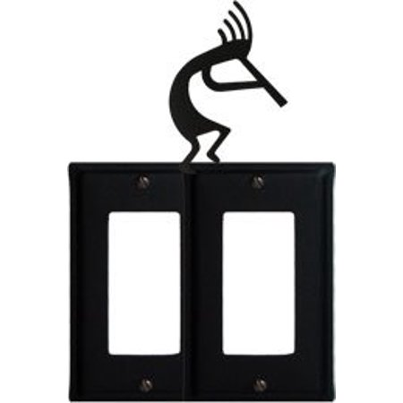 EGG-56 Kokopelli Double GFI Electric Switch Wall Plate with Silhouette