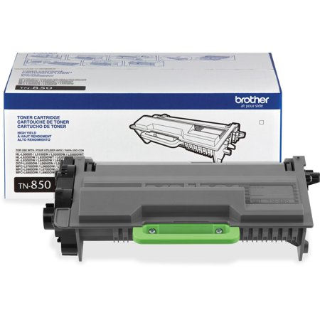 - Brother Genuine High Yield Toner Cartridge, TN850, Replacement Black Toner, Page Yield Up To 8,000 Pages