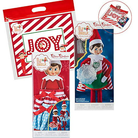 Elf on The Shelf Claus Couture 2018 Girl Scout Elf Super Power Accessory Set, with Twirling in The Snow Skirts, Scout Elf Superhero and Exclusive Joy Travel Bag ()