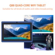 Tablets android Tablets Refurbished Q88 quad-core wifi tablet seven-inch USB power supply 512M+4G red