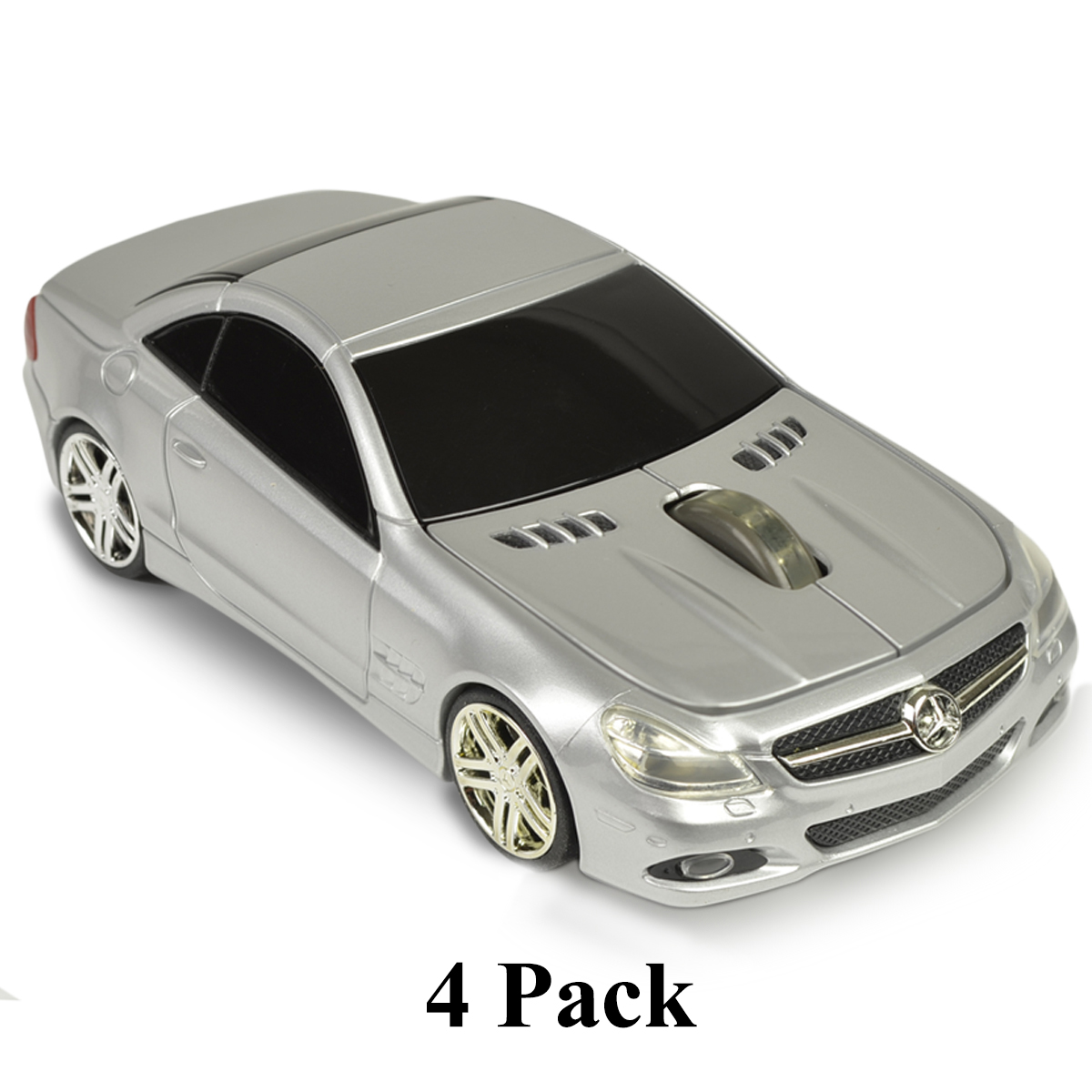 4 Pack 3 Button Road Mice Mercedes Sl550 2.4Ghz Wireless Optical Scroll Mouse