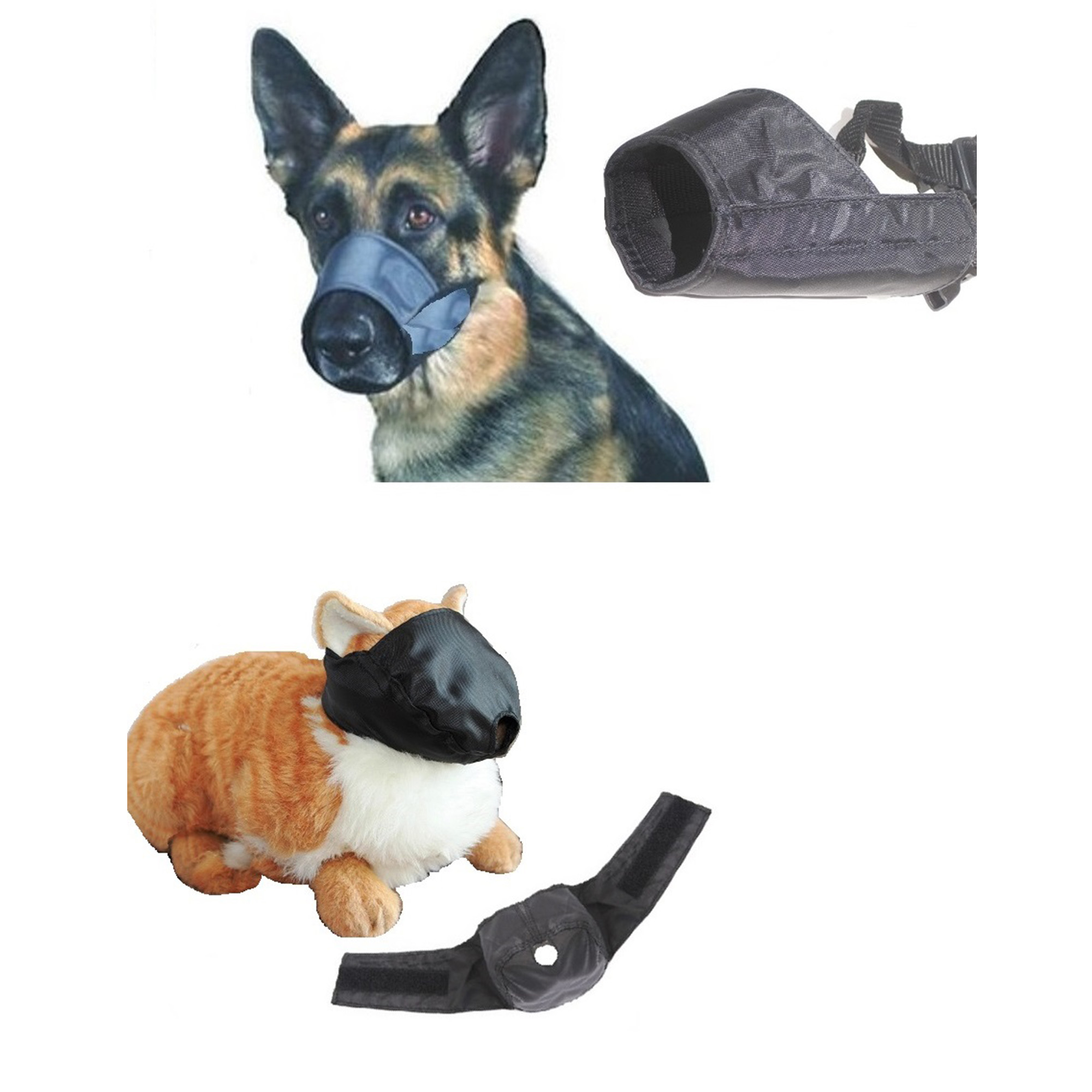 12 Pack Dog and Cat Grooming Muzzle Set by Downtown Pet Supply